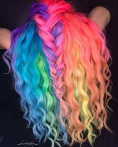 Cute Hair Colors, Pretty Hair Color, Beautiful Hair Color, Hair Dye Colors, Hair Color Blue, Exotic Hair Color, Pelo Multicolor, Unicorn Hair Color, Creative Hair Color
