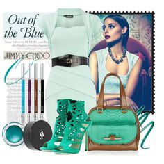 love Blue bag.Jimmy Choo - Out of the blue, created by sephia on Polyvore