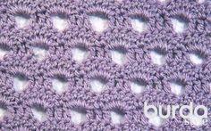 Узор с «дырочками» - схема вязания крючком. Вяжем Узоры на Verena.ru