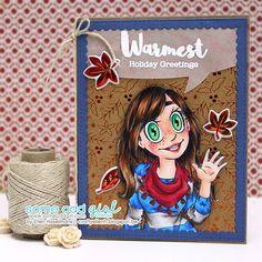 Crafty Ellen H: Some Odd Girl Release: copic marker fall christmas card digital image