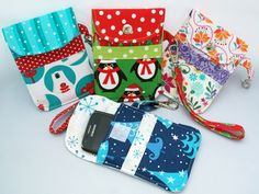 Kids and adults alike will love to receive one of these cute padded pouches in their Christmas stocking or indeed as a gift at any time of the year! They're the ideal accessory for storing a mobile phone or an MP3/4 player, like an iPod. Make them in fun prints for kids or choose floral, stripes and contemporary designs for the grown-ups. #mymisi #pattern #sewing #colorful #polarbear #penguin #xmas