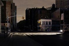 "New York in Black - Photography. New York - The City that ""actually"" never sleeps captured in unaccustomed darkness by photographer Christophe Jacrot. Black Photography, Urban Photography, Street Photography, Landscape Photography, Contemporary Photography, Christophe Jacrot, Photographie New York, Manhattan, Power Out"