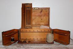 Wood+Sewing+Box+Antique+by+poppyhillfarm+on+Etsy