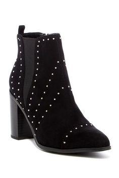 b9638c312c1 Delanie Studded Block Heel Bootie
