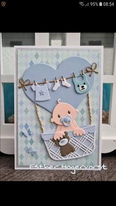 Love Cards, Cards Diy, Marianne Design, Scrapbooking, Baby Cards, Cricut Design, Office Supplies, Greeting Cards, Challenges