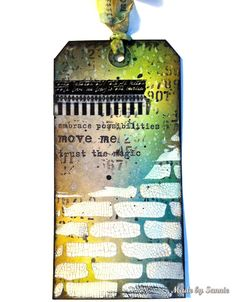 Love the textures in this tag by Sannie for the Simon Says Stamp Monday challenge (Citrus with a Twist)