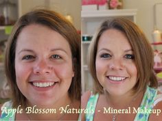 ~ Mineral Makeup Before & After Tutorials Makeup Before And After, Cruelty Free, Natural Beauty, Minerals, Tutorials, Cosmetics, Bath, Apple, Nature