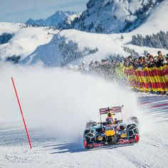 Red Bull Racing F1 on the snow