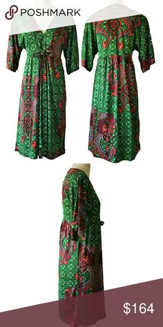 NIEVES LAVI ANTHROPOLOGIE SILK GREEN PRINT DRESS 4 NWOT-RETAIL (sealed in bag from manufacturer). 100% Silk Deep V Green Multicolor Print Dress. Anthropologie- Nieves Lavi New York. Size 4. Plunging V-neckline. Ties in the center below bust. Loose, flowing draped skirt. Knee-length. Empire waist. Loose fitting, elbow length dolman style sleeves. Perfect for any occasion! Dry Clean Only. Size 4 (can comfortable fit up to size 8). DISCOUNTED BUNDLES AND FREE GIFT WITH PURCHASE a Anthropologie…