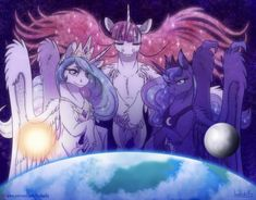 The Sun, the Moon and the Universe by InuHoshi-to-DarkPen.deviantart.com on…