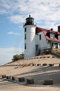 Point Betsie Light North of Frankfort Lakwest of Lelande Michigan ,Michigan US44.691300, -86.255200