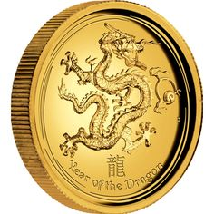 Australian Lunar Series II 2012 Year of the Dragon 1oz Gold Proof High Relief Coin