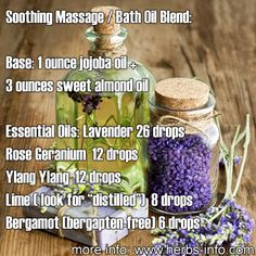 ❤After a very long day of work, your body deserves to be pampered in a warm, soothing and very relaxing bath or massage. We have here a wonderful bath or massage oil recipe that would help you rejuvenate your mind and relax your body.❤