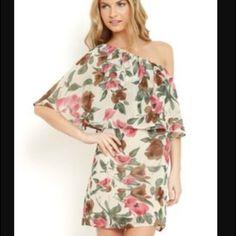 Beautiful One Shoulder Floral Dress