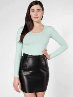 The Leather Mini Skirt ....yes plz and ty lol soo want to get a leather mini...trying something new