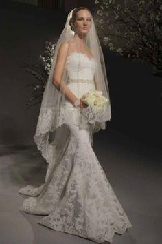 Romona Keveza Lace Wedding Gown.  Absolutely breathtaking!
