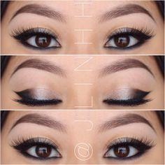 Best Ideas For Makeup Tutorials : Cat eye makeup for Asian eyes, might look better than traditional cat eye. Best Ideas For Makeup Tutorials Picture Description Cat eye makeup for Asian eyes, might look better than traditional cat eye. Pretty Makeup, Love Makeup, Makeup Inspo, Makeup Inspiration, Makeup Tips, Makeup Ideas, Makeup Trends, Asian Makeup Tutorials, Unique Makeup
