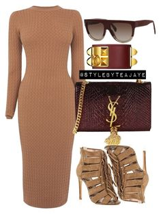 """Untitled #1947"" by stylebyteajaye ❤ liked on Polyvore featuring Karen Millen, River Island and Yves Saint Laurent"