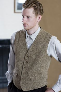 The British know how to make a waistcoat.  Guy with perfect floppy hair not included.