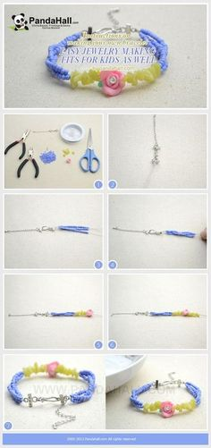 Jewelry Making Tutorial--DIY Bracelet for Kids in an Easy Way | PandaHall Beads Jewelry Blog