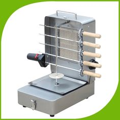 Stainless steel gas bbq skewers kebab machine,rotary LPG bbq shawarma machine with skewers,gas small vertical rotisserie broiler