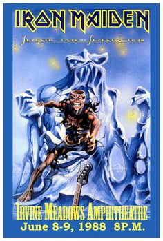 "IRON MAIDEN 1988 Concert Poster • 100% Mint unused condition • Well discounted price + we combine shipping • Click on image for awesome view • Poster is 12"" x 18"" • Semi-Gloss Finish • Great Music Collectible - superb copy of original • Usually ships within 72 hours or less with tracking. • Satisfaction guaranteed or your money back.Go to: Sportsworldwest.com"