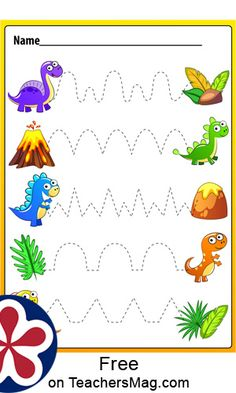 Dinosaurs Preschool, Dinosaur Activities, Preschool Writing, Dinosaur Crafts, Preschool Learning Activities, Preschool Lessons, Preschool Worksheets, Preschool Activities, Dinosaur Worksheets