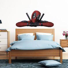 Deadpool Peeking Peeping Kids Boy Car Bedroom Decal Wall Art Sticker Gift New