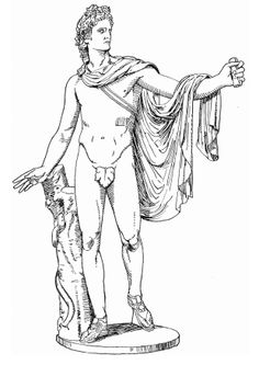 Apollo Statue coloring page from Sculptures category. Select from 31983 printable crafts of cartoons, nature, animals, Bible and many more. Aztec Statues, Apollo Statue, Detailed Coloring Pages, Creation Myth, Goddess Of Love, Free Printable Coloring Pages, Greek Gods, Black And White Pictures, Gods And Goddesses