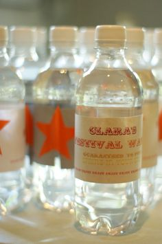 Daisy and Finn's Party Ideas. Festival Party, Daisy, Water Bottle, Party Ideas, Drinks, Drinking, Beverages, Margarita Flower, Daisies