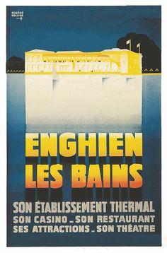 Enghien les Bains  - 1930 - illustration de Eugène Rollier -