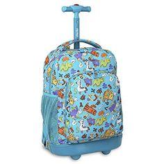 Kids Rolling Backpack Wheeled Travel Carry Bag Shoulder Luggage Fashion  Bookbag  JWorld  Bookbag Kids 6fbfbe98c87bc