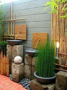 Modern Zen Minimalist Pocket Garden #luxuryzengarden #LittleGardenDesign
