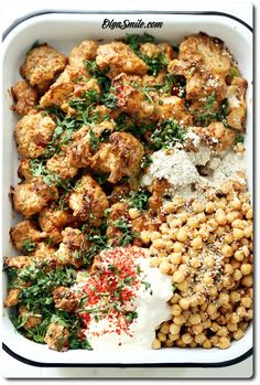 Cauliflower with chickpeas - Cauliflower with chickpeas recipe - Cauliflower with chickpeas recipes - Chickpeas With cauliflower - Chickpeas With cauliflower recipes Chickpea Recipes, Cauliflower Recipes, Keto Recipes, Dinner Recipes, Healthy Recipes, Meals Without Meat, Eat Happy, Vegan Dinners, I Love Food