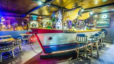Yes it is: A Boat Bar, made from a Traditional Aruban Fishing Boat.