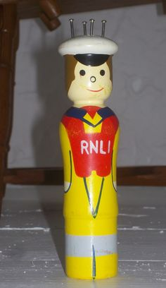 RNLI French Knitting Dolly Upcycled from a skipping rope ..... kept one - sold one.