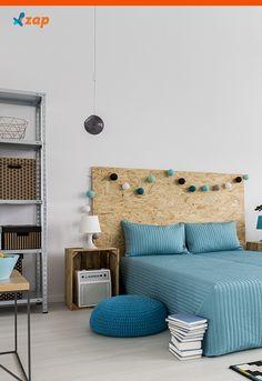 Já pensou em mudar o estilo da sua cabeceira de cama com materiais que são descartados em caçambas de obras e construções?