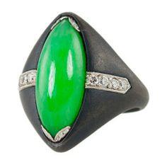 MARSH Jade Diamond Ring in Steel