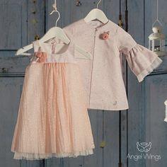 Βαπτιστικό Φόρεμα Fairyland | Angel Wings 057 Fairy Land, Angel Wings, Christening, Girl Outfits, Tulle, Skirts, Clothes, Tops, Women