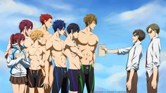 Now...This team,(plus Rin and Sei) is super protective of their maneger! Lucky Gou~