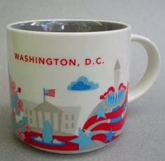b4a86f5b62 NEW Starbucks Mug Washington DC You Are Here Collection 2013 White House  boxed Starbucks State Mugs