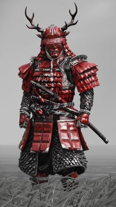 Oni Samurai, Samurai Tattoo, Samurai Warrior, Japanese Drawings, Japanese Artwork, Japanese Tattoo Art, Fantasy Character Design, Character Art, Futuristic Samurai