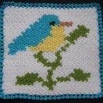 Kuş desenli lif #crochet #knit #knitting #örgü #washcloth