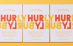 Hurly Burly / Design / Branding / Bold / Typography / Fermentation / Turbulent / Continuous / Logo / Postcards