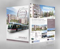Plaquette du programme immobilier, les Terrasses de Notre Dame à Grenoble - 38