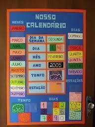 Resultado de imagem para calendario do tempo