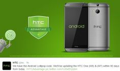 HTC One M8 and M7 to receive Android 5.0 Lollipop update in 90 days