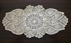 Crochet - Pineapple Oval Doily; Free pattern                                                                                                                                                     More