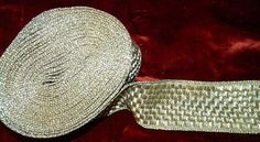 RAREST Wide Vintage French or Italian Silver Metallic by RuinsCa, $79.00
