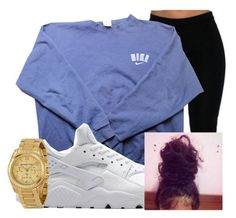 """""""Untitled #277"""" by brooklynnmckenna ❤ liked on Polyvore featuring NIKE and Michael Kors"""